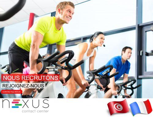 NEXUS CONTACT CENTER recrute 20 Télé-acteurs pour une opération pour salles de sport / fitness